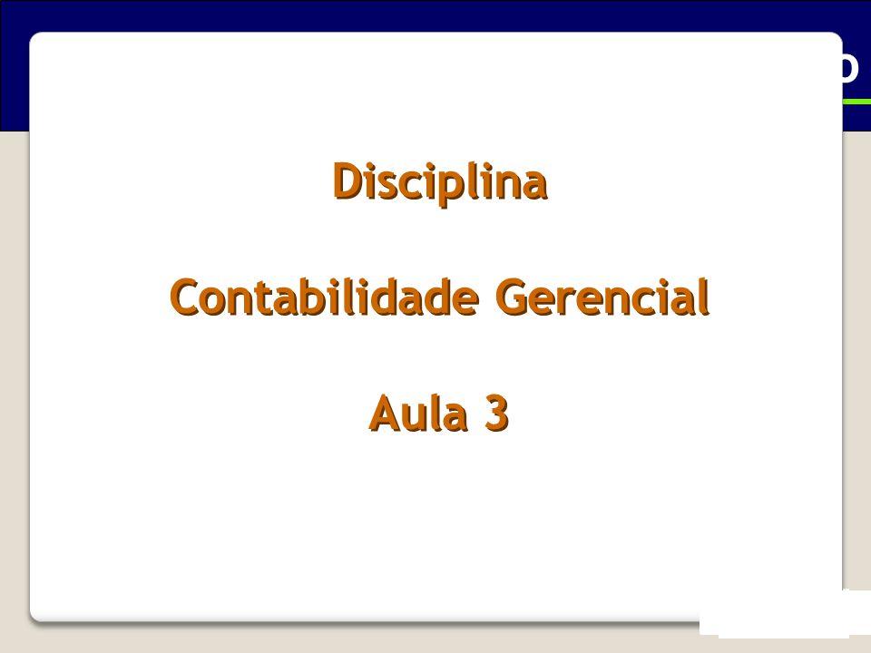 Ciências Contábeis - Executivo Contabilidade Gerencial