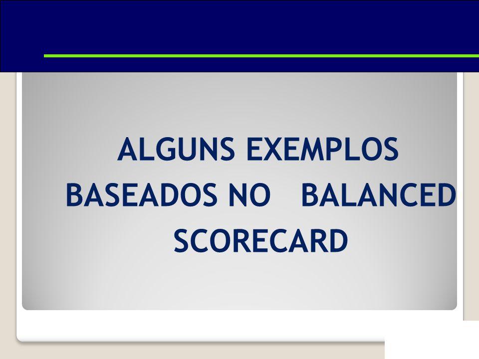 ALGUNS EXEMPLOS BASEADOS NO BALANCED SCORECARD