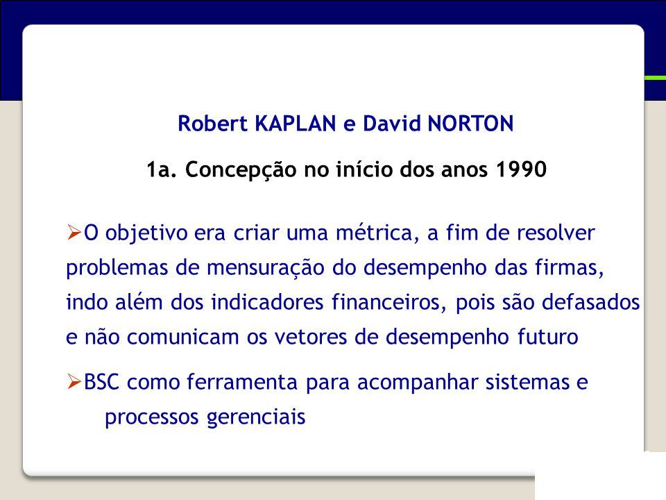 Evolução do Balanced Scorecard