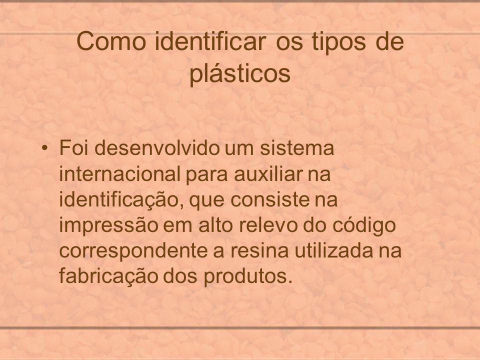 Como identificar os tipos de plásticos