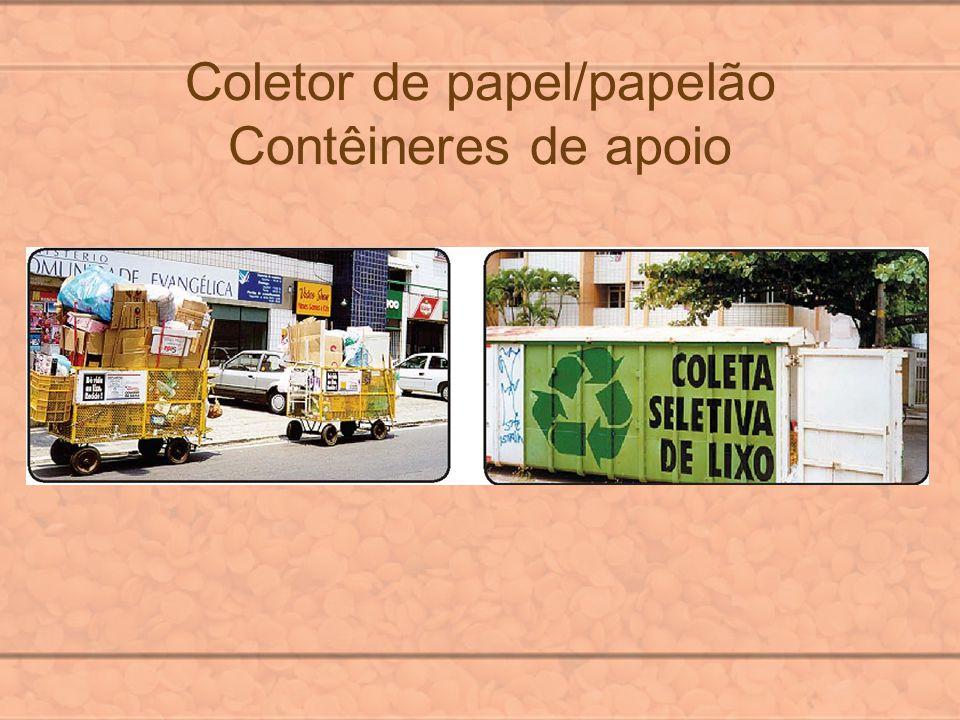 Coletor de papel/papelão Contêineres de apoio