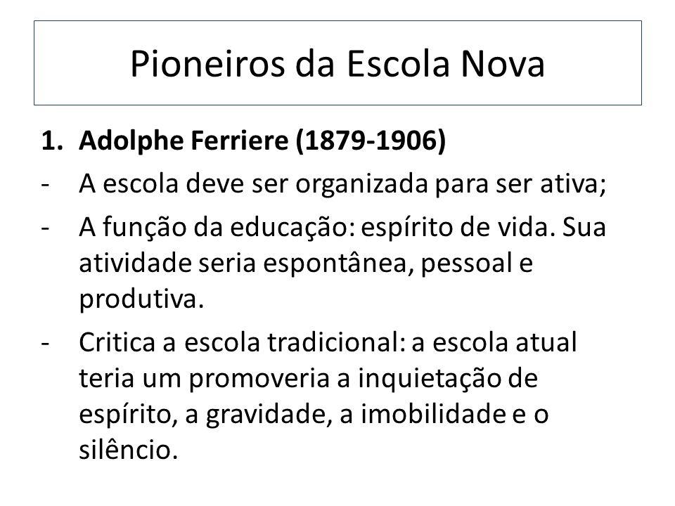 Pioneiros da Escola Nova