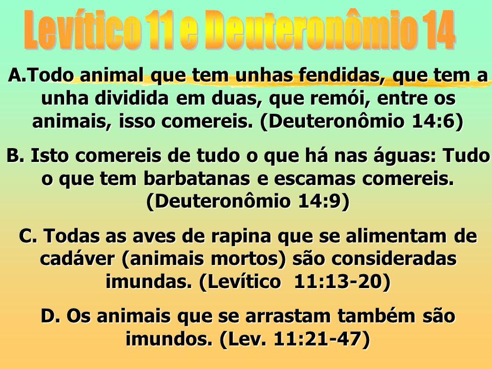 Levítico 11 e Deuteronômio 14