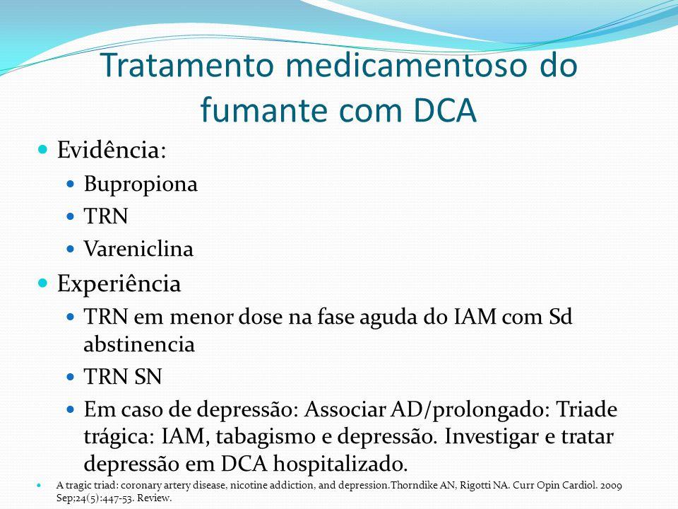 Tratamento medicamentoso do fumante com DCA