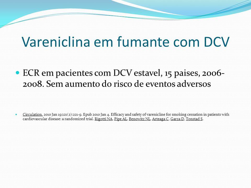 Vareniclina em fumante com DCV