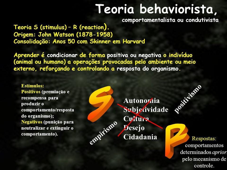 comportamentos determinados apriori pelo mecanismo de controle.