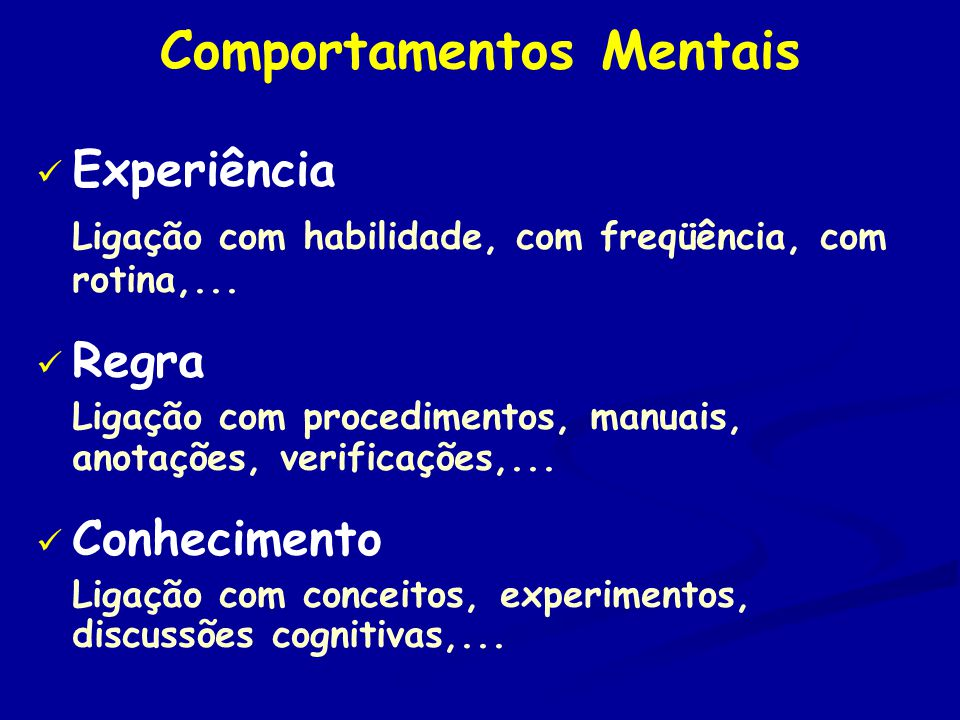 Comportamentos Mentais