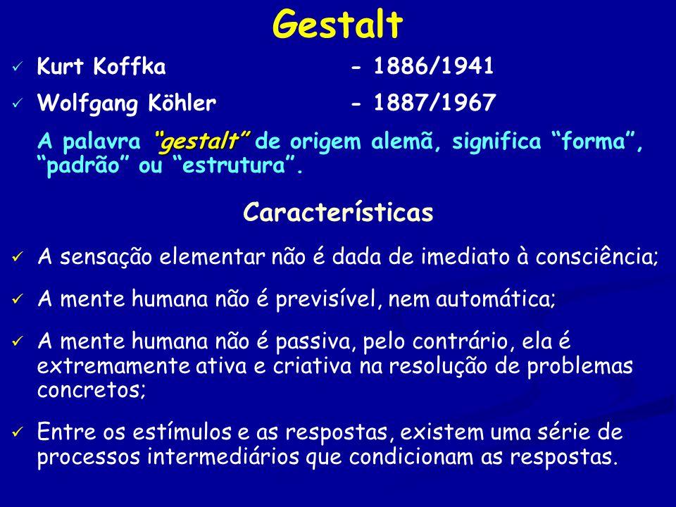 Gestalt Características Kurt Koffka - 1886/1941