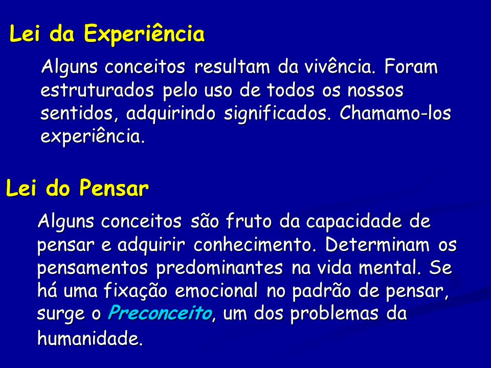 Lei da Experiência