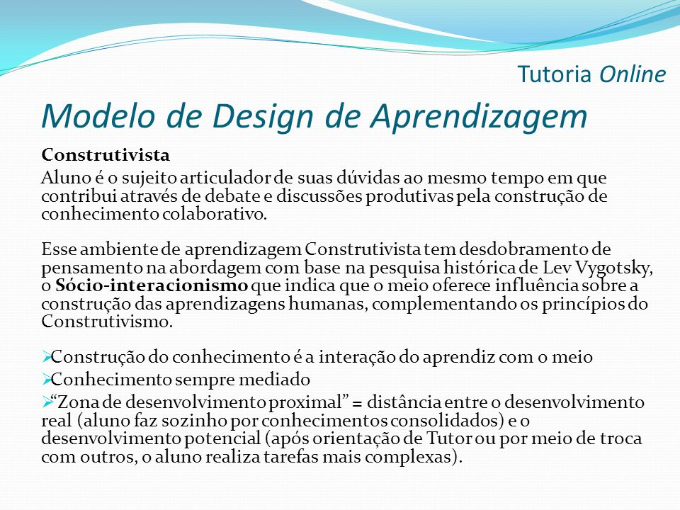 Modelo de Design de Aprendizagem