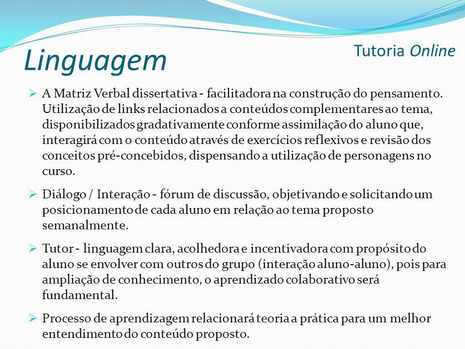 Linguagem Tutoria Online