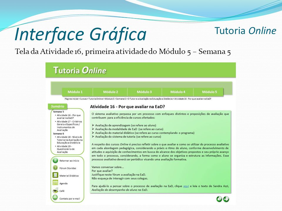 Interface Gráfica Tutoria Online