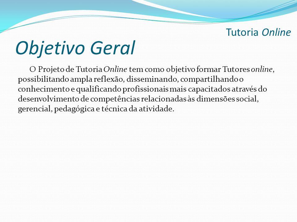 Objetivo Geral Tutoria Online