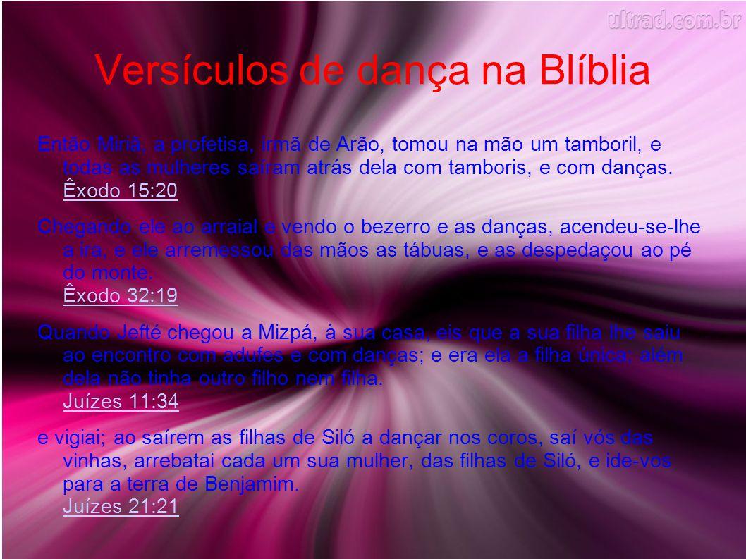 Versículos de dança na Blíblia