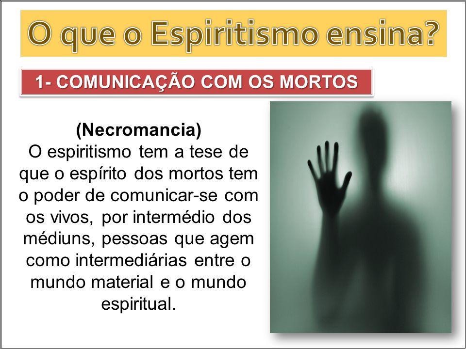 O que o Espiritismo ensina 1- COMUNICAÇÃO COM OS MORTOS