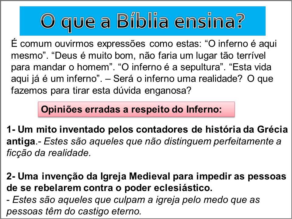 O que a Bíblia ensina