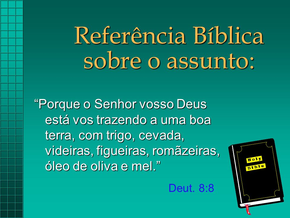 Referência Bíblica sobre o assunto:
