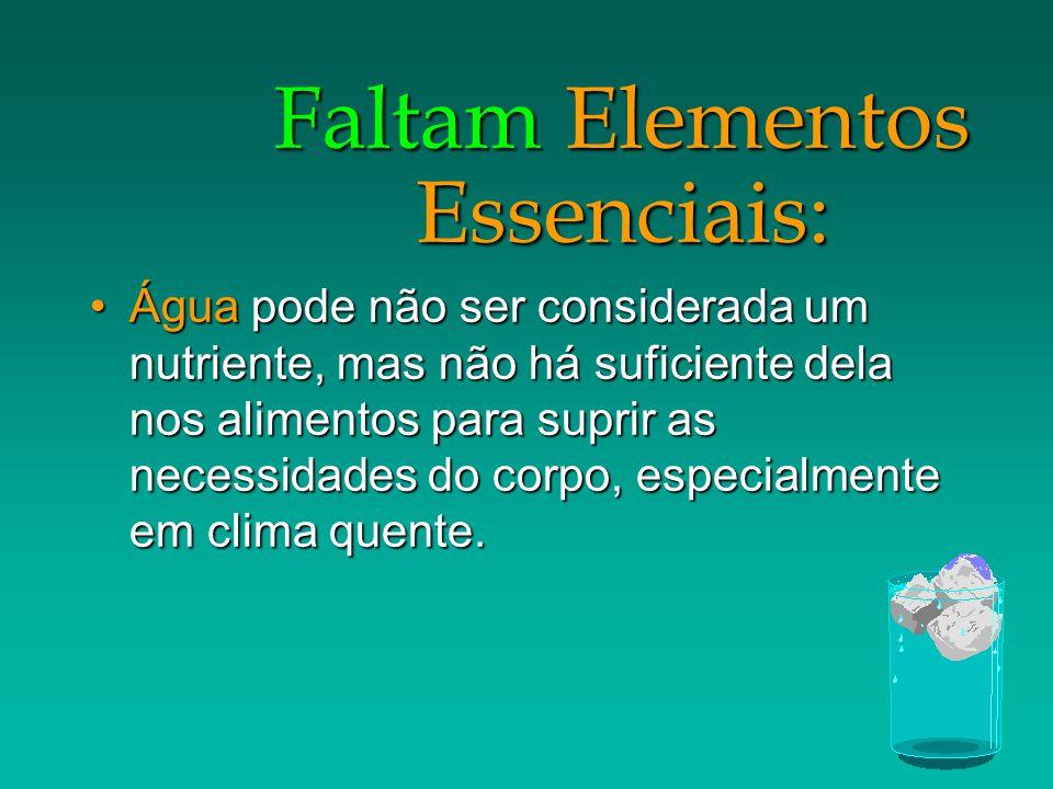 Faltam Elementos Essenciais: