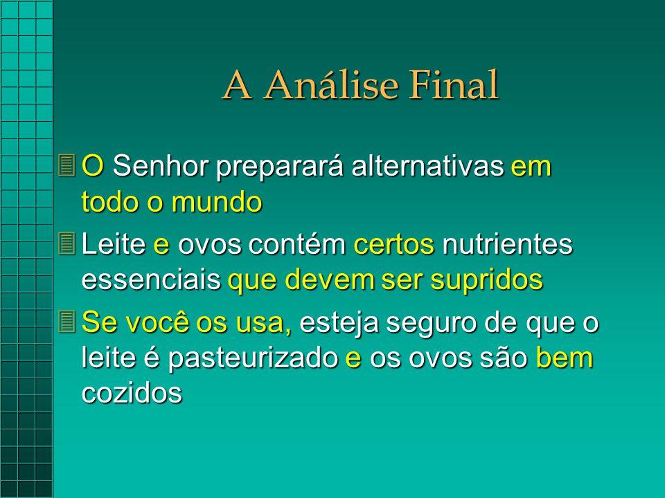 A Análise Final O Senhor preparará alternativas em todo o mundo