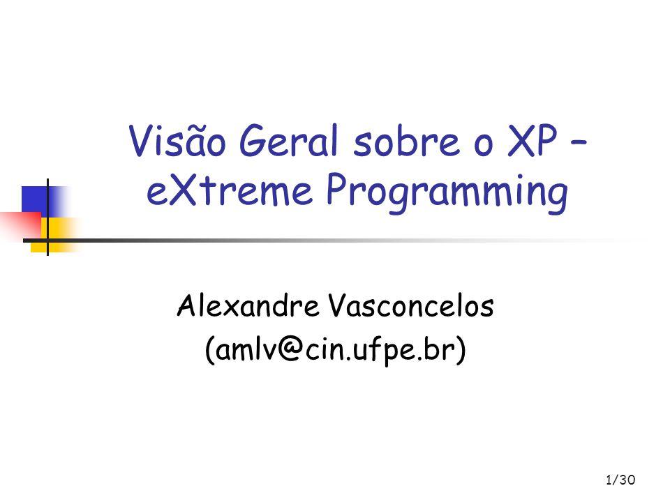 Visão Geral sobre o XP – eXtreme Programming