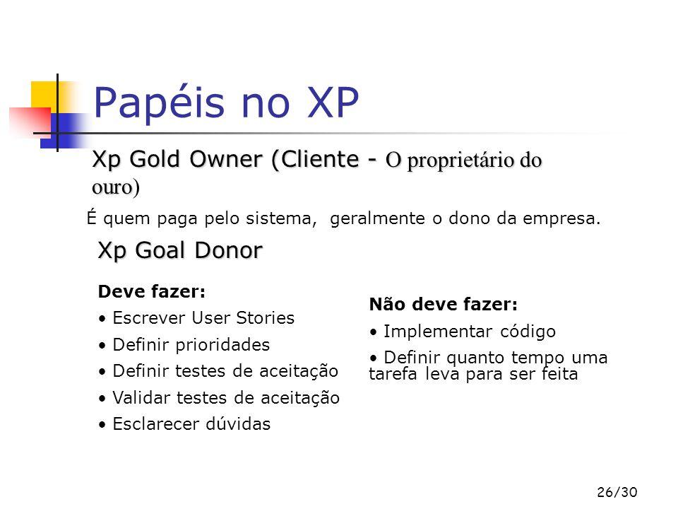 Papéis no XP Xp Gold Owner (Cliente - O proprietário do ouro)