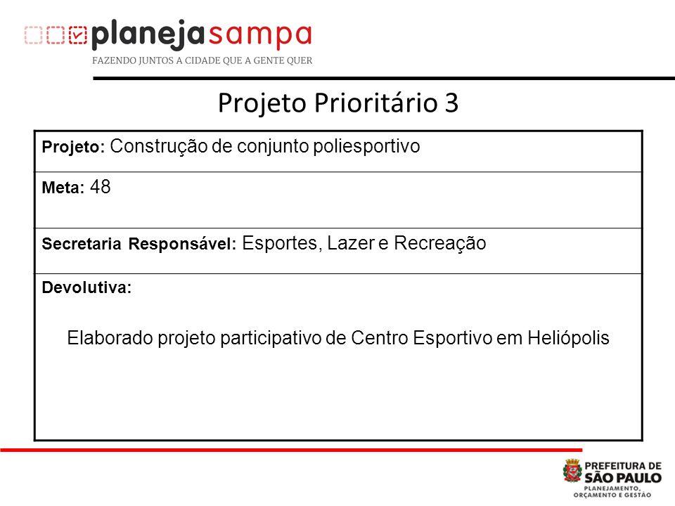 Elaborado projeto participativo de Centro Esportivo em Heliópolis