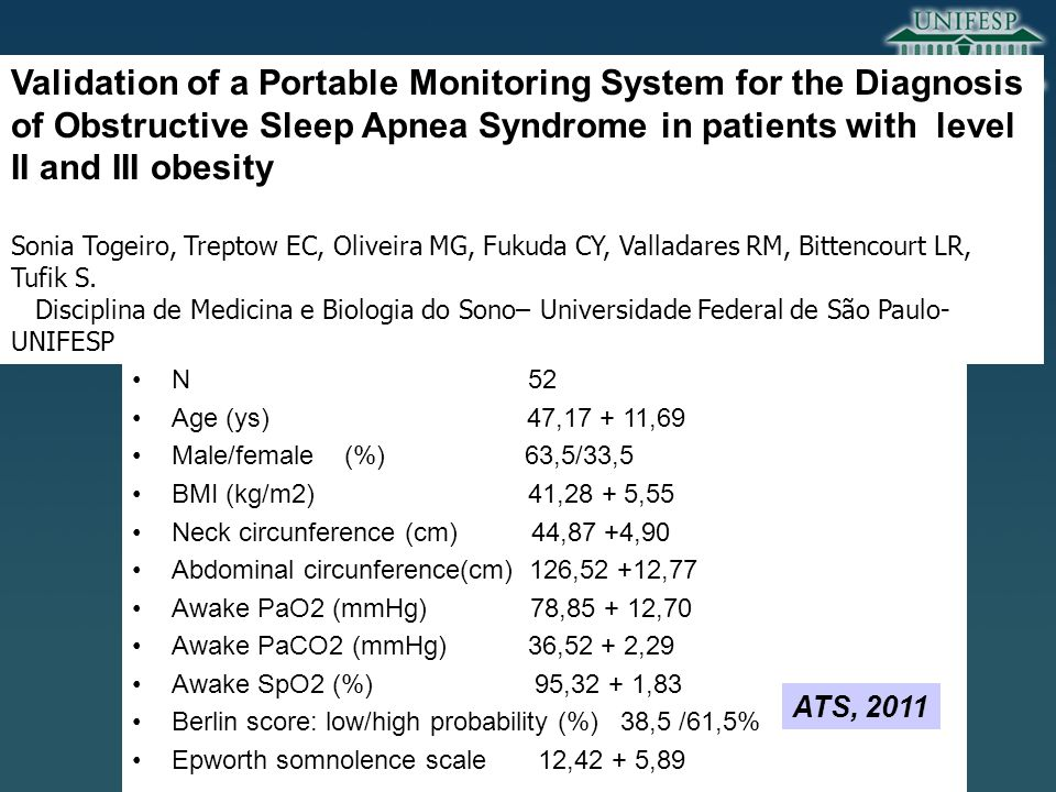 Validation of a Portable Monitoring System for the Diagnosis of Obstructive Sleep Apnea Syndrome in patients with level II and III obesity