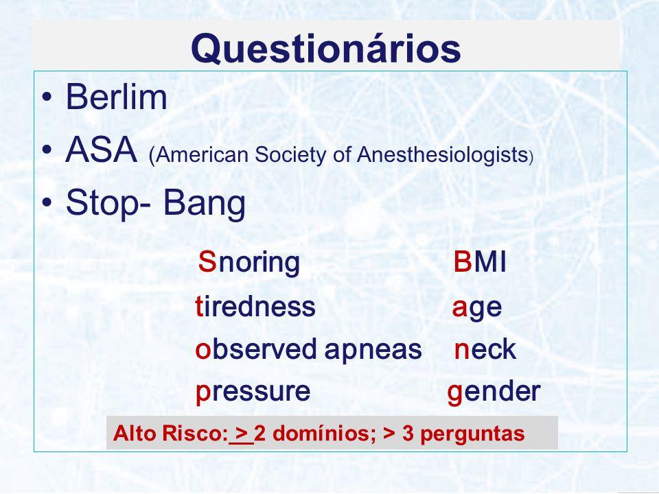 Questionários Snoring BMI Berlim