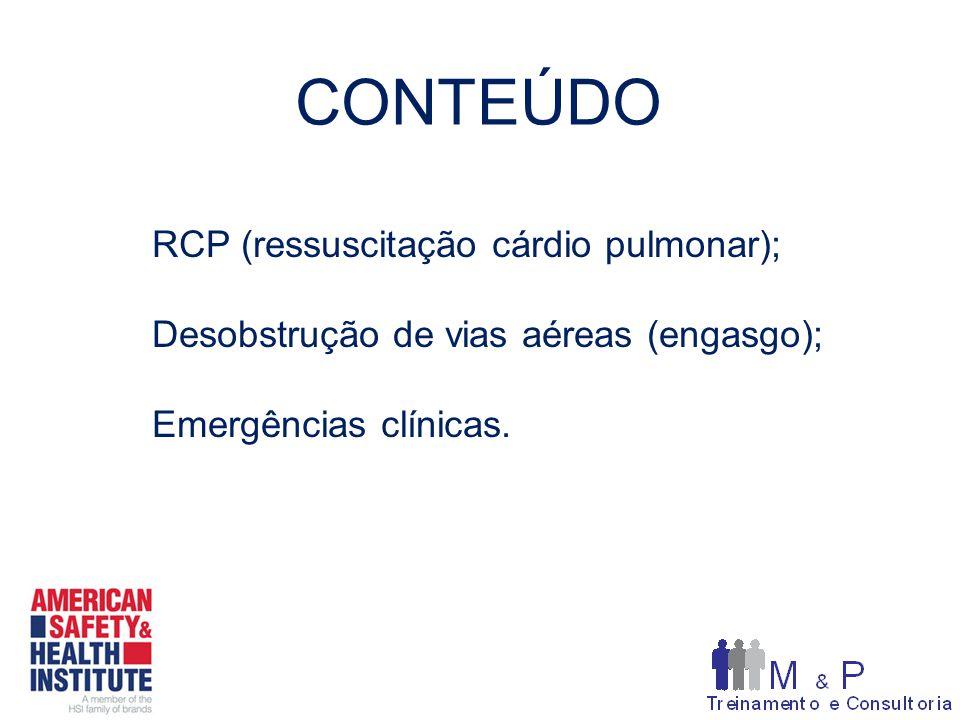 CONTEÚDO RCP (ressuscitação cárdio pulmonar);
