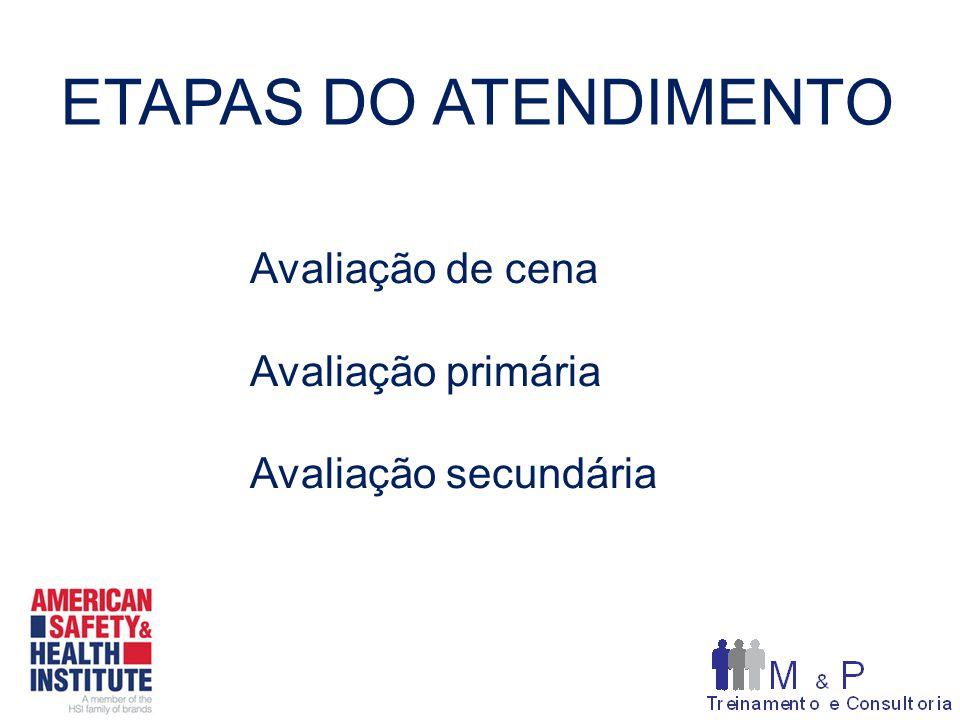 ETAPAS DO ATENDIMENTO Avaliação de cena Avaliação primária