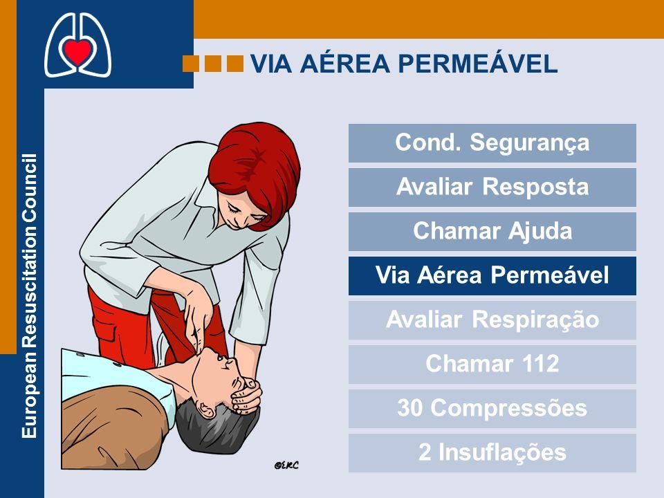 VIA AÉREA PERMEÁVEL Cond. Segurança Avaliar Resposta Chamar Ajuda