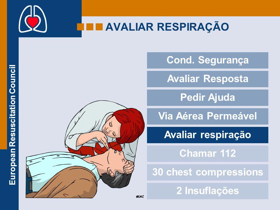AVALIAR RESPIRAÇÃO Cond. Segurança Avaliar Resposta Pedir Ajuda