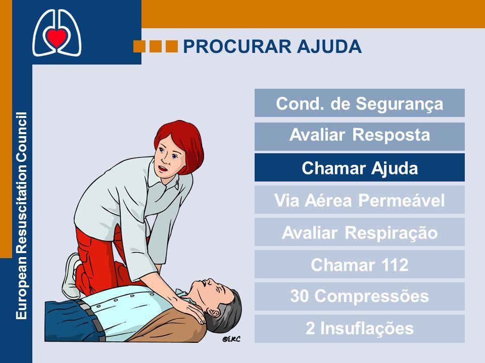 PROCURAR AJUDA Cond. de Segurança Avaliar Resposta Chamar Ajuda
