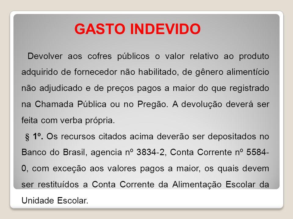 GASTO INDEVIDO