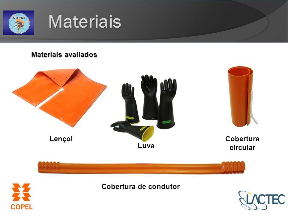 Materiais Materiais avaliados Lençol Cobertura circular Luva
