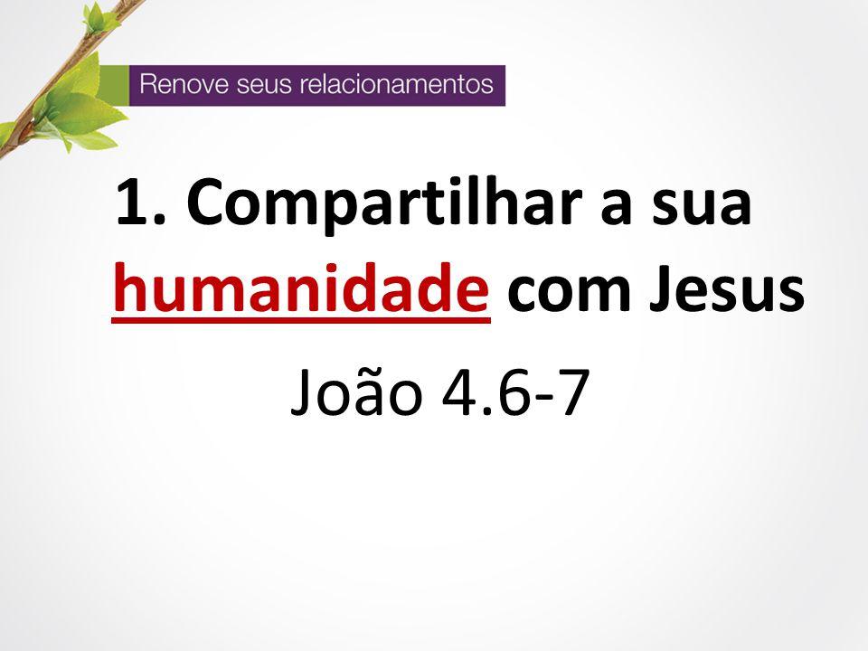 Compartilhar a sua humanidade com Jesus