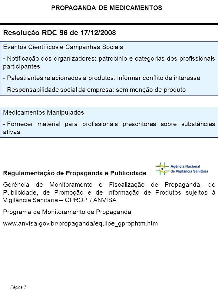 PROPAGANDA DE MEDICAMENTOS