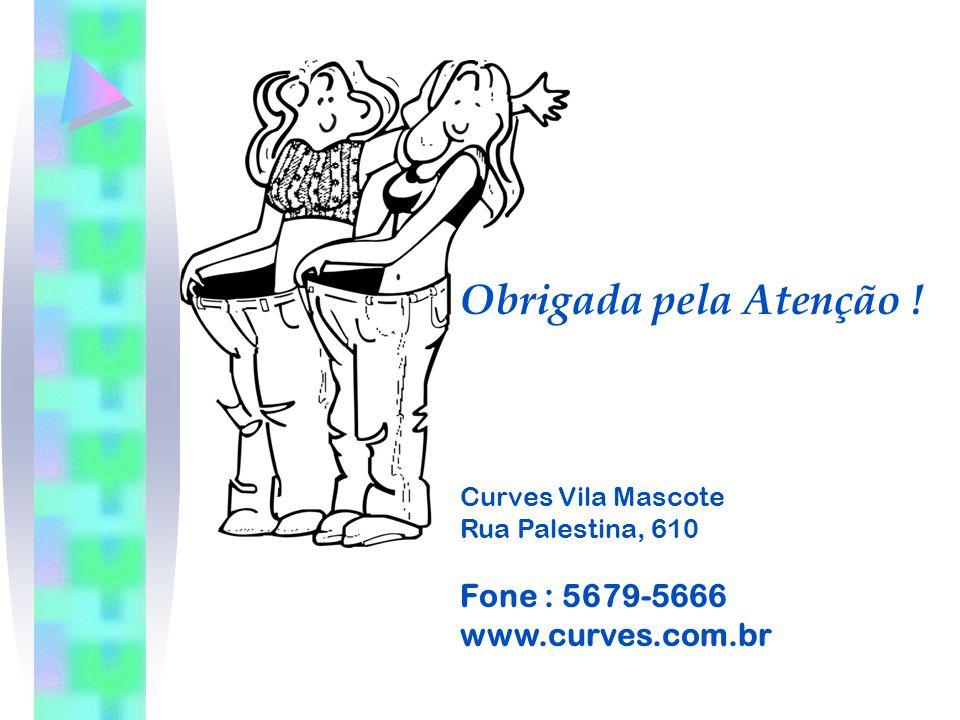 Obrigada pela Atenção ! Fone : 5679-5666 www.curves.com.br