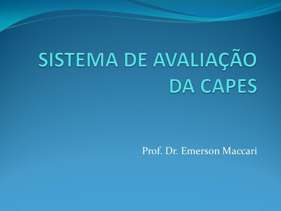 SISTEMA DE AVALIAÇÃO DA CAPES