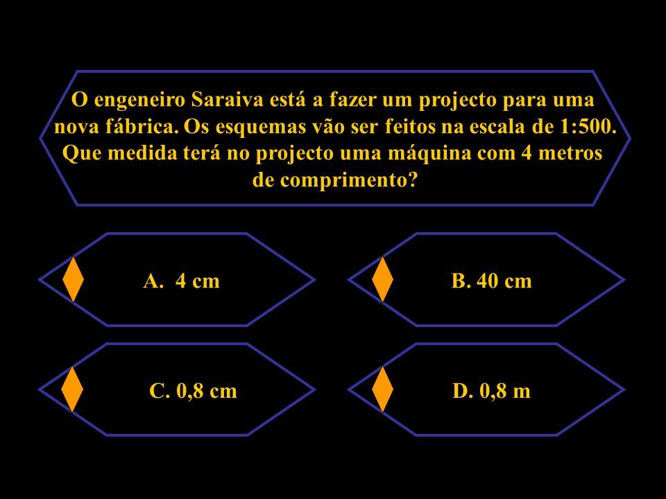O engeneiro Saraiva está a fazer um projecto para uma
