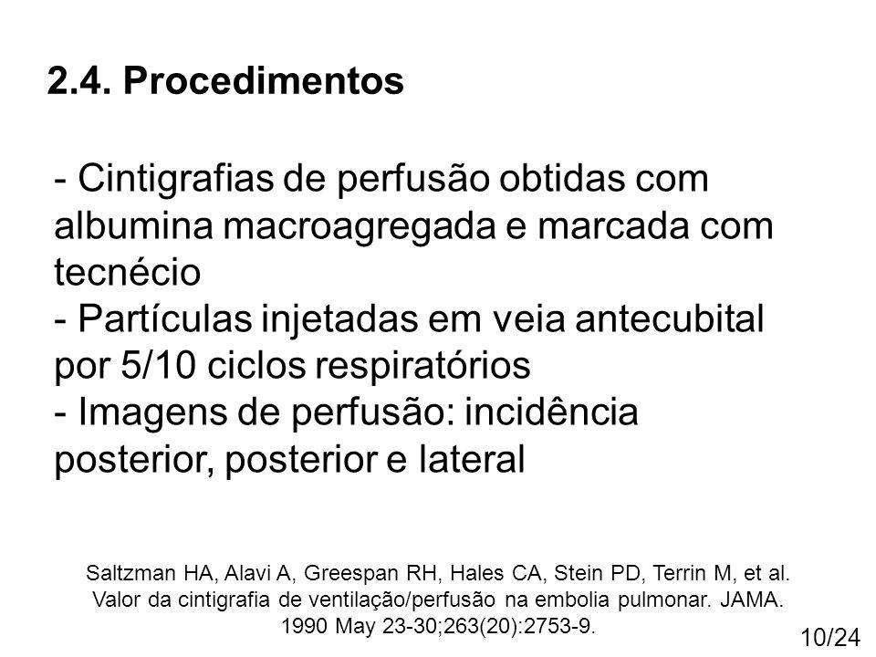 - Imagens de perfusão: incidência posterior, posterior e lateral