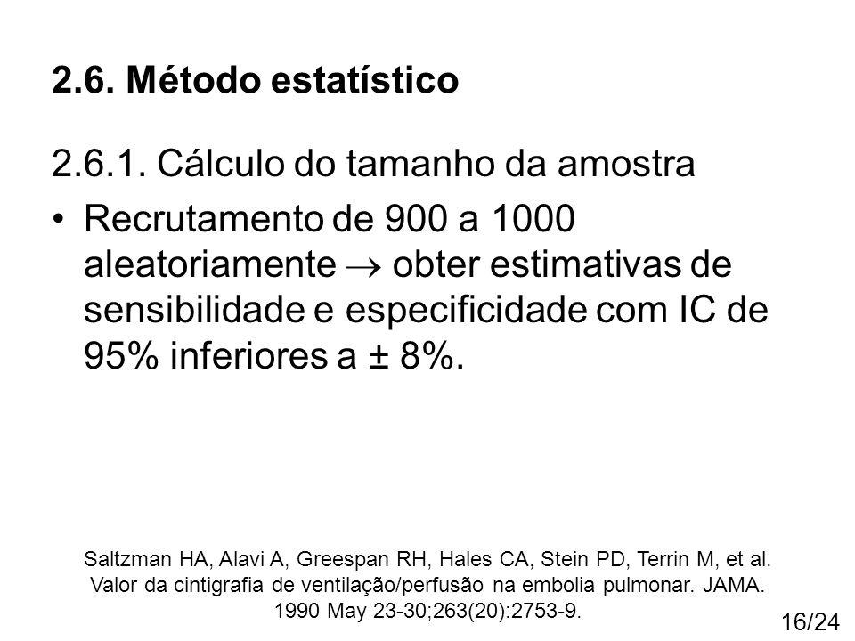 2.6.1. Cálculo do tamanho da amostra