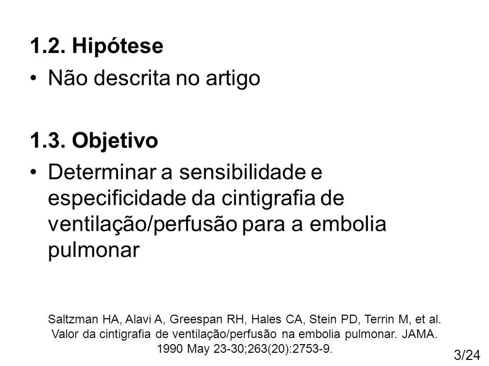 1.2. Hipótese Não descrita no artigo 1.3. Objetivo