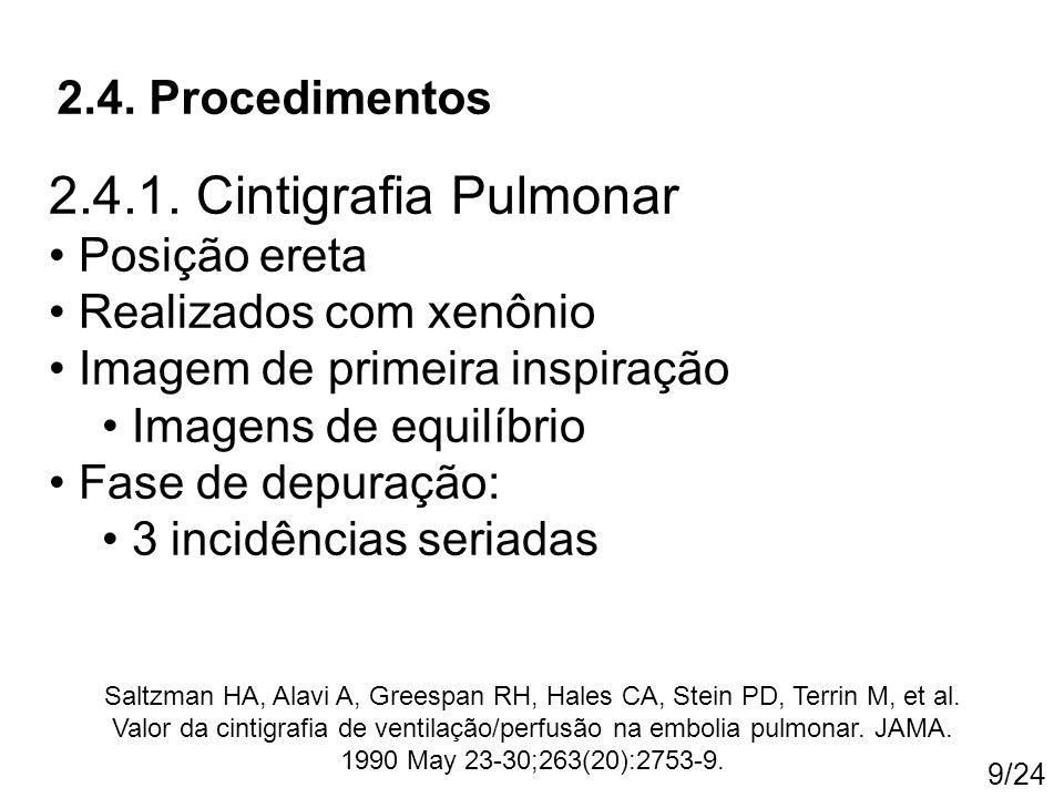 2.4.1. Cintigrafia Pulmonar 2.4. Procedimentos Posição ereta