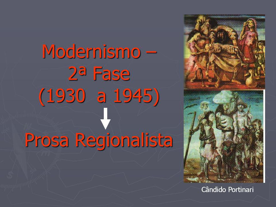 Modernismo – 2ª Fase (1930 a 1945) Prosa Regionalista