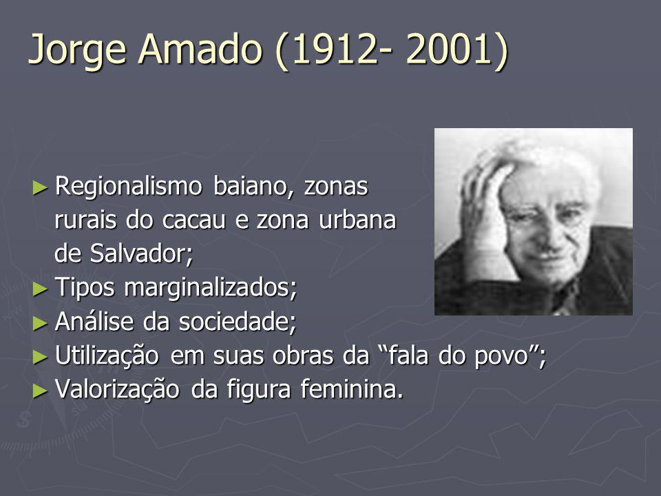 Jorge Amado (1912- 2001) Regionalismo baiano, zonas