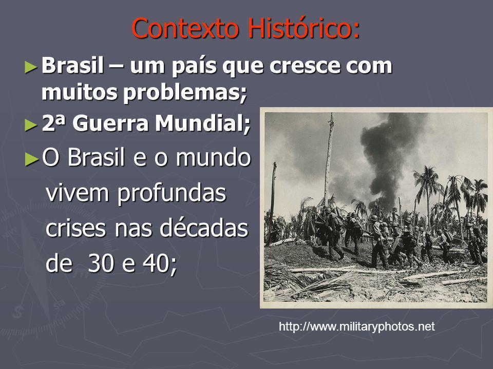 Contexto Histórico: O Brasil e o mundo vivem profundas