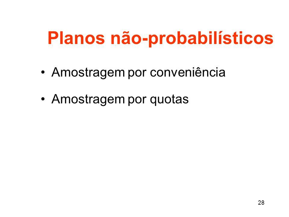 Planos não-probabilísticos