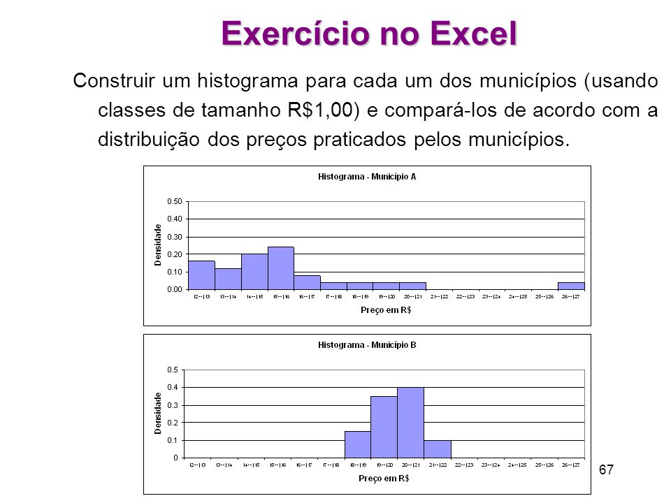 Exercício no Excel