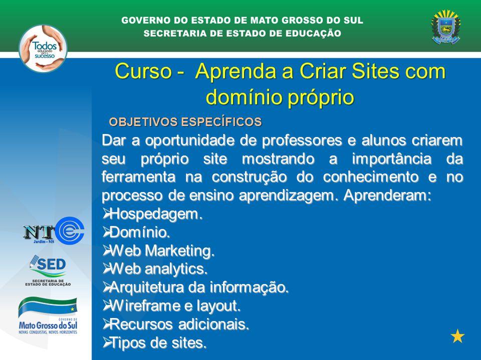 Curso - Aprenda a Criar Sites com domínio próprio
